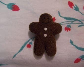 tiny gingerbread man pin