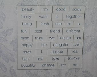 Magnetic Words to Spell Out Your Messages