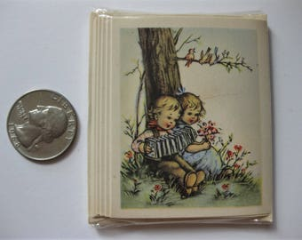 Vintage Miniature Greeting Cards, Hummel Kids, Unopened Pack of Six with Envelopes