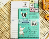 Kawaii Japanese Letter Set - French Bulldog