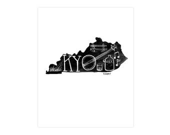 Kentucky State Print // 1canoe2 // Modern Art Print