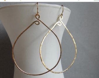 20% off FLASH SALE, Large Gold Hammered Hoops, Gold Filled, Inner Peace Hammered Hoop Earrings, Size LARGE Gold Filled,