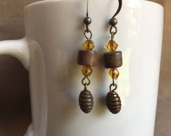 Summer! ... Extreme Decaf Earrings .. FREE U.S. SHIPPING