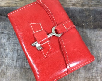 Summer Fun Leather Journal with Key