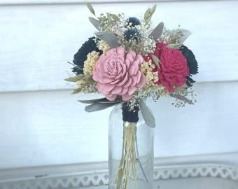 Medium arrangement made with Sola flowers - choose your colors - balsa wood - Alternative bouquet - Wedding Decor - Centerpiece