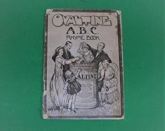 Vintage Book Vintage Advertisement Vintage Ovaltine A B C Rhyme Book 1930's