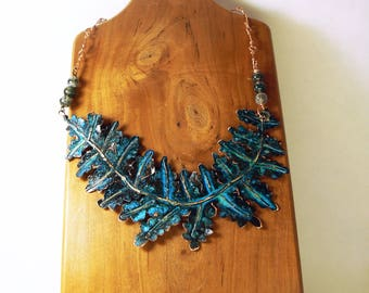 Blue Fern Necklace