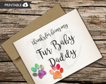 Happy Father's Day Card -Fur Baby- Dogs - Cats -Pets