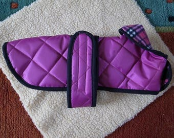 Bespoke, Made to Order Quilted Waterproof Dachshund Coat