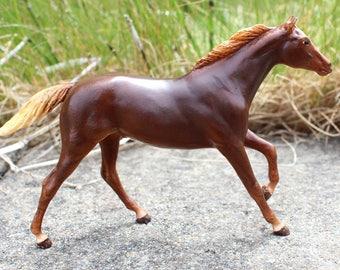 Calidi - custom sorrel Breyer Paddock Pals/Little Bits thoroughbred TB customized CM altered painted art horse