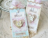 Happy Day Shabby Chic Handmade Tag set, Tags, Gift Tags, Shabby Tags, Tags, Scrapbook, Card making, Handmade tags, Gifts