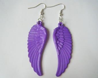 Earrings Angel Wings ♥ purple ♥