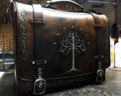Tree of Gondor Lord of the rings leather messenger  bag - satchel - briefcase - laptop bag