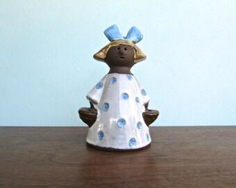 Annika Kihlman for Jie Ceramics Gantofta (Jie-Keramik), Flower Girl, Mid Century Swedish Pottery