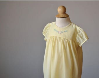 ON SALE 1950s Buttercup Spring Dress~Size 6 Months