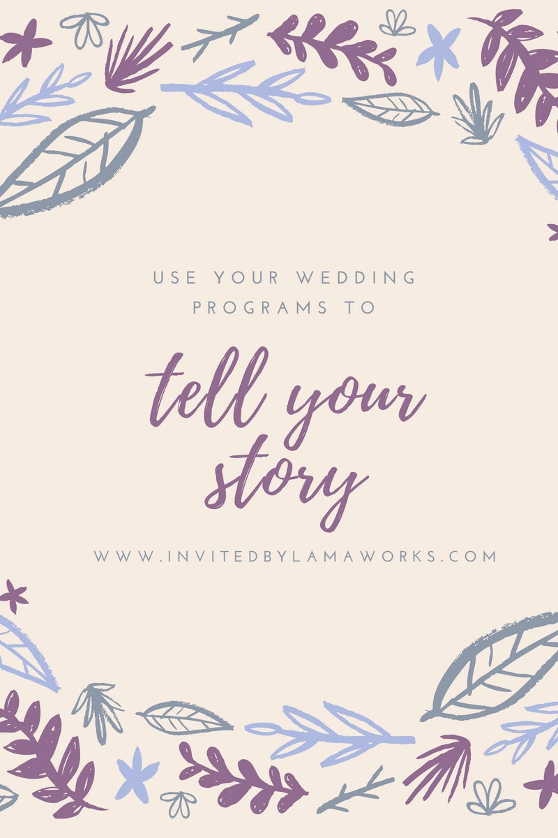 tell your story with wedding paper