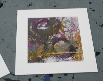 Isolated Moment #38: Original Abstract Painting on Paper