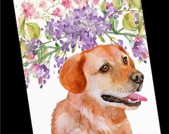 Dog Card-Golden Lab Blank Greeting Card-Golden Lab Watercolor