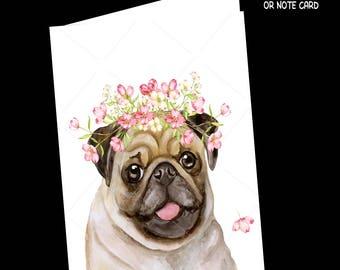 Dog-Dog Card-Pug-Greeting Card