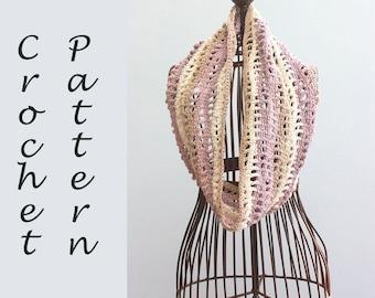 Caron Cakes Cotton Crochet Pattern, Infinity Scarf Crochet Pattern, Instant Download, Cowl Scarf PDF Pattern