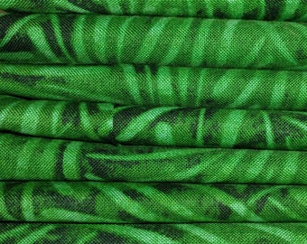Fat Quarters Green Tonal 8 Pack Cotton Quilting Sewing Crafting Fabrics