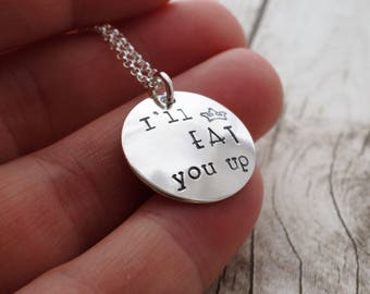 Book Lover Gifts - Max's Crown Pendant - Where the Wild Things Are Quote Necklace - Hand Stamped Charm Jewelry by Eclectic Wendy Designs