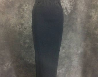 ON SALE Vintage 1990's Rifat Ozbek black high waist stretch pencil skirt Small XS
