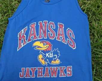 1980s Vintage KU Kansas Jayhawks tank top