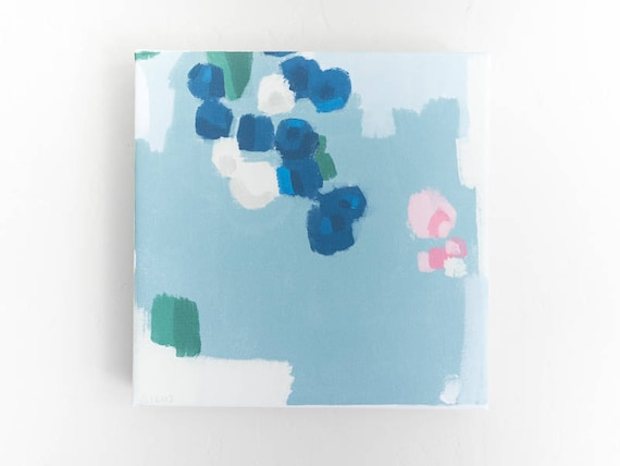 Abstract Fruit Wall Art - Blueberries Painting