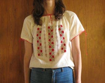 HUNGARIAN embroidered blouse, s - m