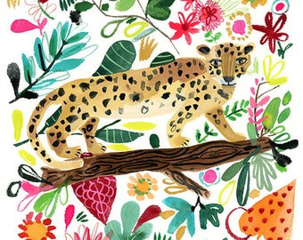 Leopard in Jungle Archival Print