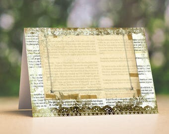 Wedding Place Cards Vintage Shabby Chic Tent Style Place Cards or Table Place Cards #200
