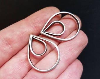 Teardrop Earrings, Sterling Silver Statement Earrings, Stud Earrings, Oxidized Silver Earrings, Classic Sterling Silver Jewelry
