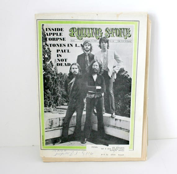 1969 Rolling Stone Beatles Magazine Cover No. 46
