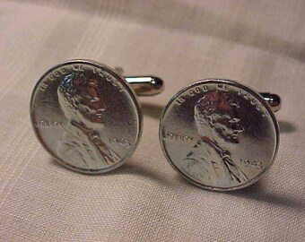 1943 Steel Penny Coin Cuff Links