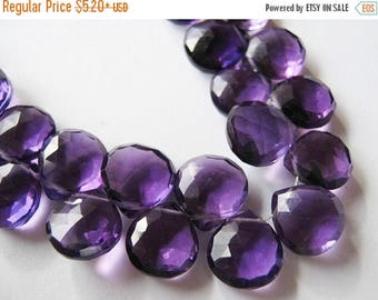 SALE AMETHYST Hydro Quatrtz Gemstone, Faceted Heart Briolettes, 8mm. Only Pairs Available (5AMH). Last Ones