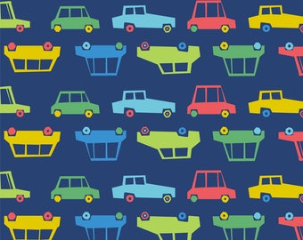 Colorful Cars Fabric - To The Ocean And Back Cars By Diane555 - Gender Neutral Car Nursery Decor Cotton Fabric By The Yard With Spoonflower
