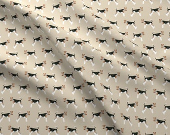 Wire Fox Terrier Fabric - Wire Fox Terriers Dog Breed Simple By Petfriendly - Terrier Dog Cotton Fabric by the Yard with Spoonflower