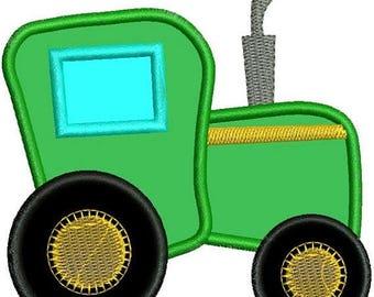 SALE 65% OFF Applique Farm Tractor Machine Embroidery Designs 4x4 & 5x7 Instant Download Sale