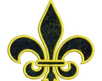 SALE 65% OFF Applique Fleur De Lis 1 Color Machine Embroidery Designs Instant Download Sale 4x4 and 5x7