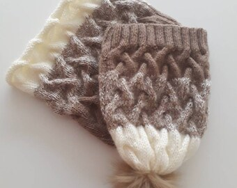 Cowl and Hat, winter hat and cowl, cowl, hat