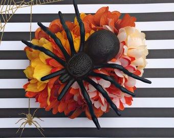 Halloween Hair Flower, Hair Flower, Halloween Hair Clip, Pinup Hair Flower, Spider Hair Clip, Fall Hair Flower, Goth Hair Flower, Fascinator