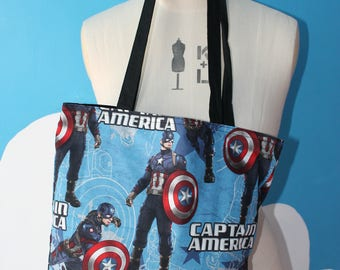 captain america - marvel tote bag