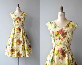 Kew Gardens dress | vintage 1950s dress | floral print 50s dress