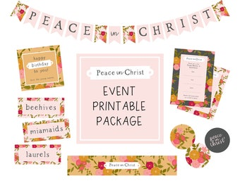 Young Women Mutual Theme Even Package 2018 - Peace in Christ - New Beginnings - YW in Excellence
