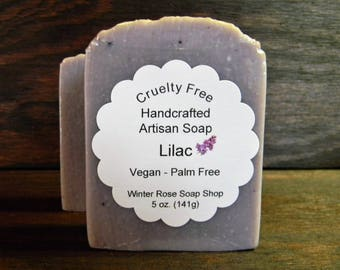 Lilac - Vegan - Palm Free - Scented (Phthalate Free) - Handcrafted - Artisan Soap