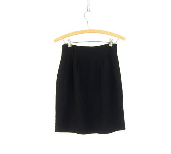 Basic Black Skirt Minimal Mini Skirt Modern Professional Work Skirt High Waist Skirt Dressy Summer Women's Size 4 Petite XS