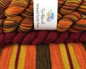 Serenity - With Deep Red Heel & Toe - Ready to Ship April 16th - Hand Dyed Self Striping Sock Yarn