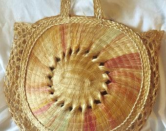 Large Woven Straw Market Bag Oversized Rattan Purse