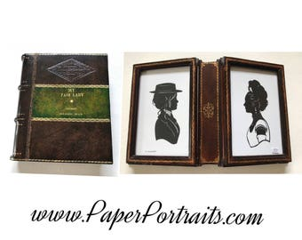 My Fair Lady by George Bernard Shaw, OOAK Vintage Book Frame with Real Hand Cut Silhouettes